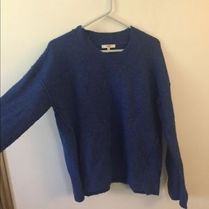 dark blue Madewell sweater